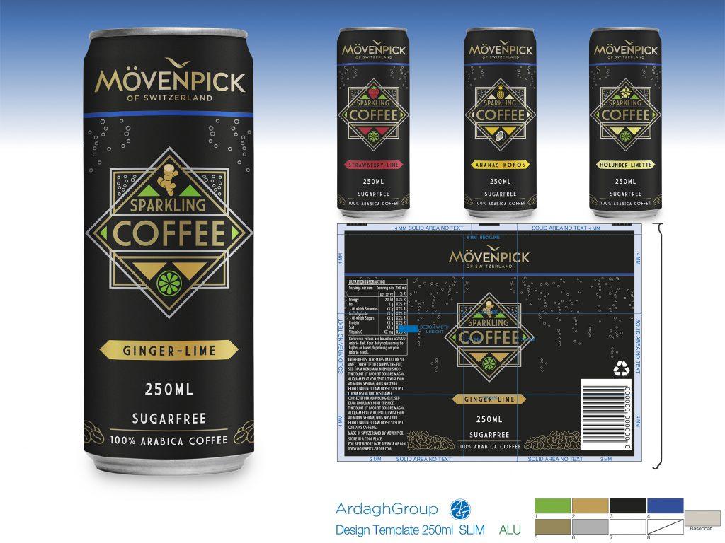 MOVENPICK Sparkling Coffee Can Design