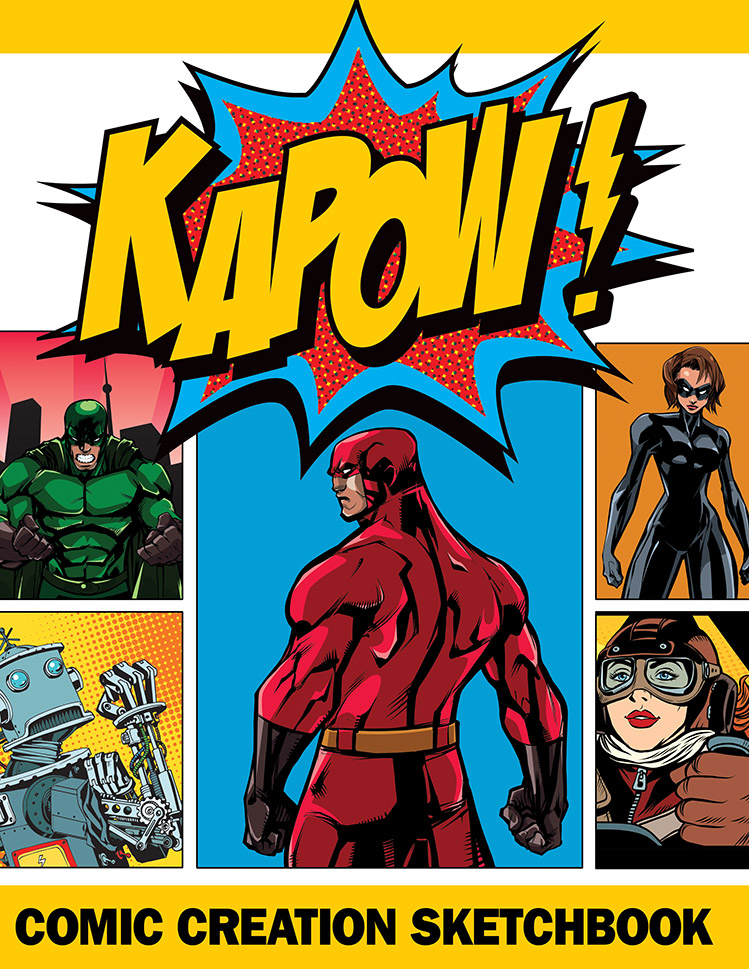 KAPOW Comic Sketchbook Cover
